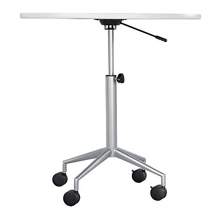 "Safco® RSVP Pneumatic Height Table Base, 36 3/4""H x 29 3/4""W x 29""D, Silver"
