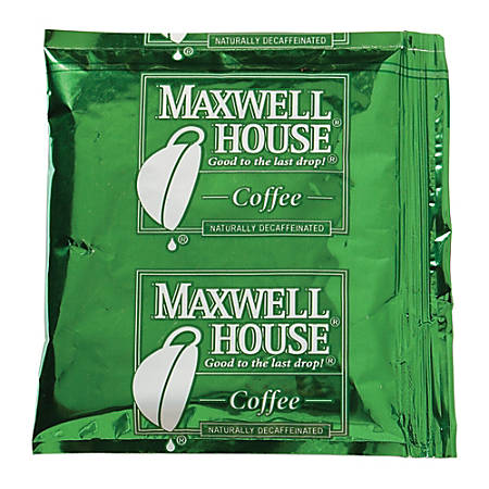 Maxwell House® Decaffeinated Single-Serve Coffee Packets, 1.5 Oz, Carton Of 42