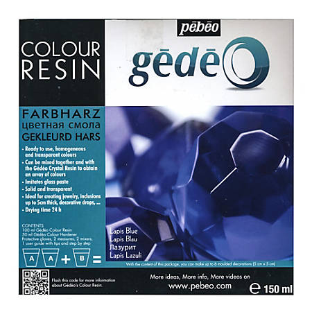 Pebeo Gedeo Color Resin, Lapis Blue, 150 Ml