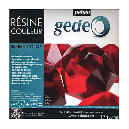 Pebeo Gedeo Color Resin, Ruby, 300 Ml