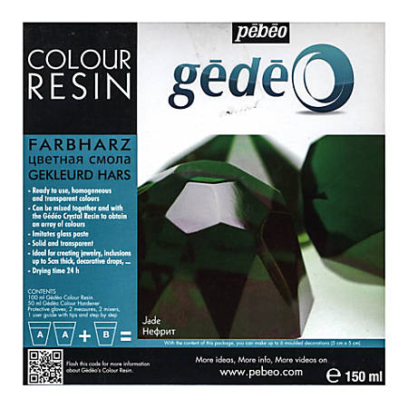 pebeo gedeo color resin jade 750 ml by office depot officemax