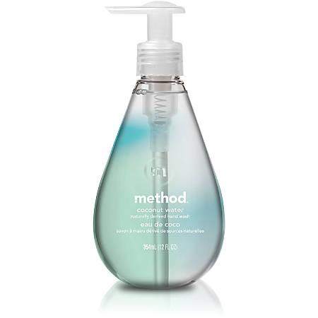 Method Coconut Water Gel Handwash - Coconut Water Scent - 12 fl oz (354.9 mL) - Pump Bottle Dispenser - Hand - Clear - Triclosan-free - 1 Each