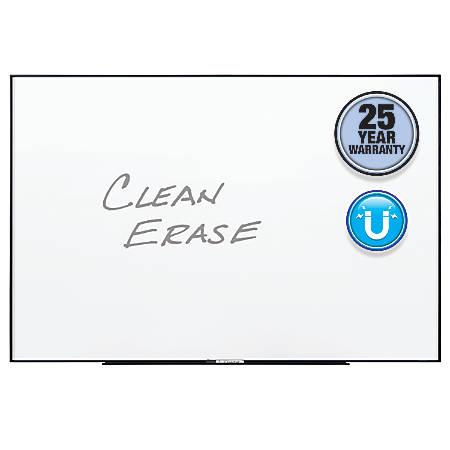 Quartet® Nano Magnetic Dry-Erase Whiteboard, 8' x 4', Black, Aluminum Frame