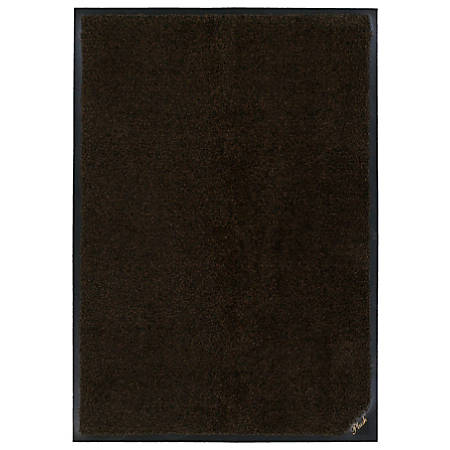 "M+A Matting Colorstar Plush Floor Mat, 36"" x 120"", Black/Brown"