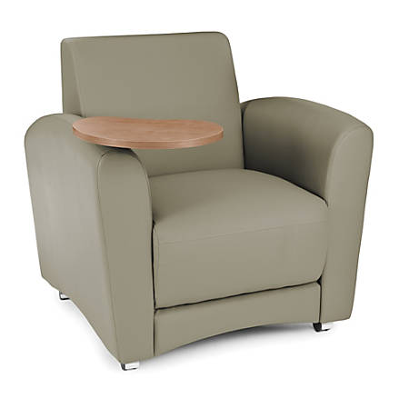 """OFM Interplay-Series Single-Tablet Chair, 33""""H x 43""""W x 32""""D, Taupe/Bronze"""