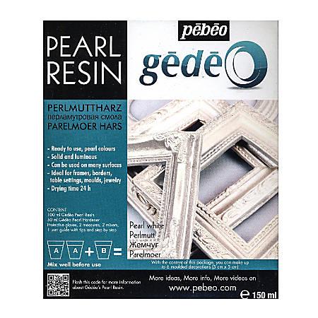 Pebeo Gedeo Pearl Resins, Pearl White, 150 Ml