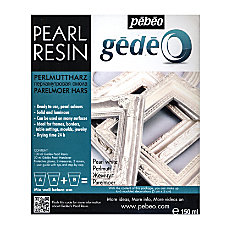 Pebeo Gedeo Pearl Resins Pearl White