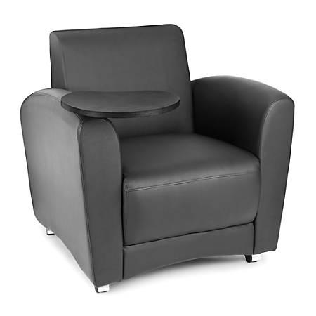 "OFM Interplay-Series Single-Tablet Chair, 33""H x 43""W x 32""D, Black/Tungsten"