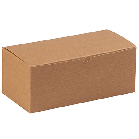 "Office Depot® Brand Gift Boxes, 10""L x 5""W x 4""H, 100% Recycled, Kraft, Case Of 100"