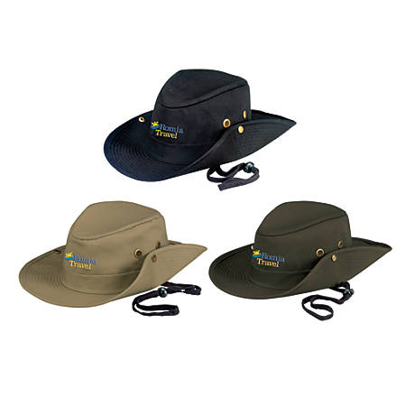 Cotton Embroidered Outback Hat, One Size Fits Most