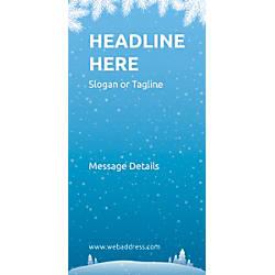 Custom Vertical Banner Winter Snowflakes