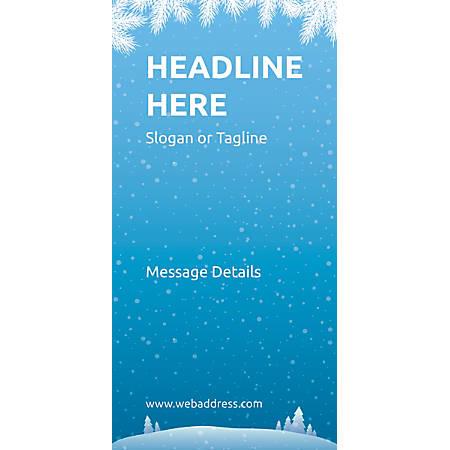 Custom Vertical Banner, Winter Snowflakes