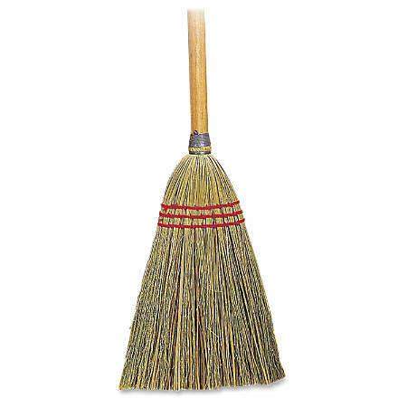 "Genuine Joe Lobby Toy Broom - 34""Wood Handle - 12 / Carton"