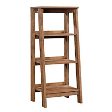 Sauder Trestle Bookcase 3 Shelves Vintage