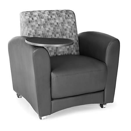"OFM Interplay-Series Single-Tablet Chair, 33""H x 43""W x 32""D, Nickel/Black/Tungsten"