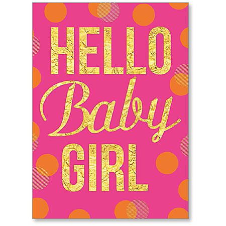 viabella new baby girl greeting card