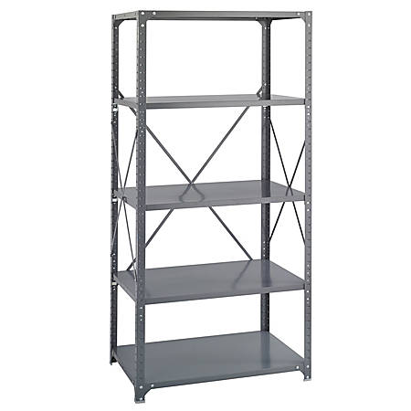 Safco 5-Shelf Commercial Steel Shelving Kit, Dark Gray