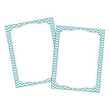 Barker Creek Computer Paper, Letter Paper Size, 60 Lb, Turquoise Chevron, 100 Sheets