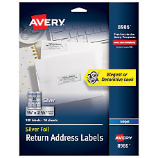 avery address labels 3 4 x 2 1 4 at office depot