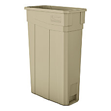 Suncast Commercial Narrow Rectangular Resin Trash