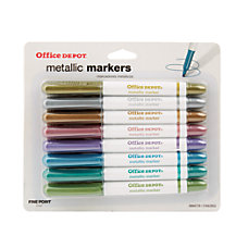 Office Depot Metallic Markers Bullet Point