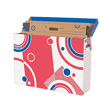 "TREND File 'N Save System® Bulletin Board Sturdy Folders, 27""H x 18""W x 1/2""D, Multicolor, Pack Of 2"