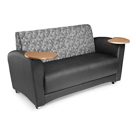 "OFM Interplay-Series Double-Table Sofa, 33""H x 82""W x 32 1/2""D, Nickel/Black/Bronze"