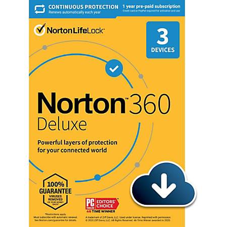 Norton 360 Deluxe 25GB EN 1 User 3 Device 12 Month