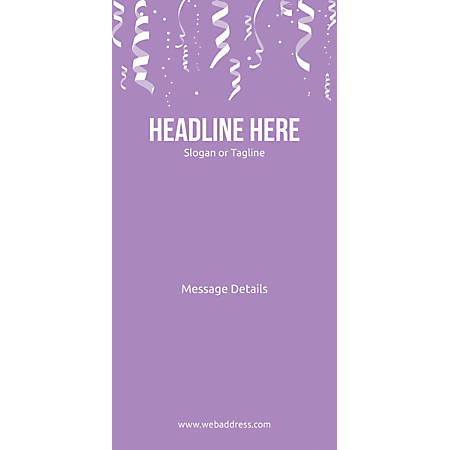 Custom Vertical Display Banner, Conf. Ribbons