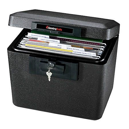 "Sentry®Safe 1170 Security Fire File, 13 3/5""H x 15 3/10""W x 12 1/10""D, Black"