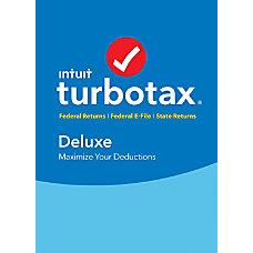 TurboTax Deluxe Federal E File State
