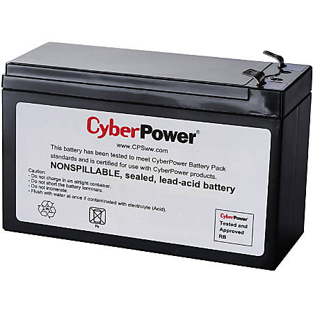 CyberPower RB1290 UPS Replacement Battery Cartridge - 9Ah - 12V DC - Maintenance-free Sealed Lead Acid