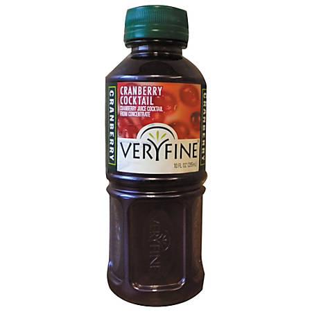 Veryfine® Cranberry Juice Cocktail, 10 Oz., Case Of 24