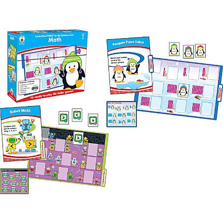 Carson-Dellosa CenterSOLUTIONS® File Folder Games — Math, Grade 1, Box Of 16