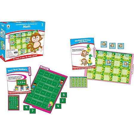 Carson-Dellosa CenterSOLUTIONS® File Folder Games — Math, Grade 3, Box Of 16