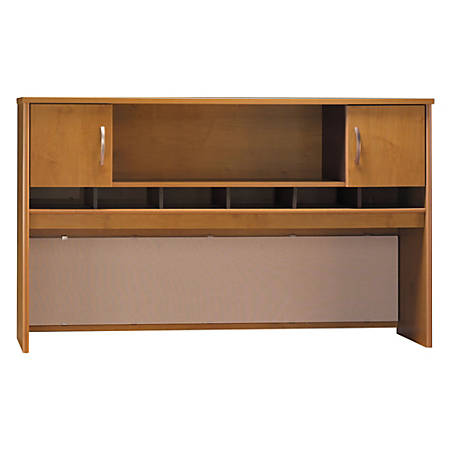 "Bush Business Furniture Components 2 Door Hutch, 72""W, Natural Cherry/Graphite Gray, Standard Delivery"