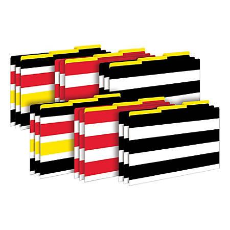 Barker Creek Tab File Folders, Legal Size, Wide Stripes, Pack Of 18 Folders