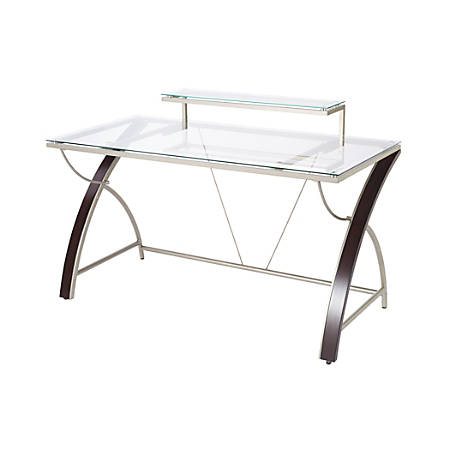 pretty nice b5e5f 8539a Realspace® Axley Glass Computer Desk, 55