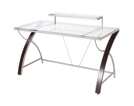 pretty nice c3c09 53387 Realspace® Axley Glass Computer Desk, 55