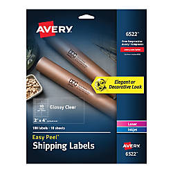 Avery Glossy Permanent Labels 6522 Shipping