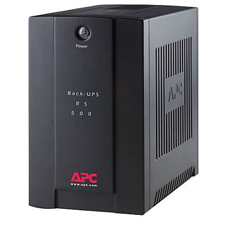 APC by Schneider Electric Back-UPS RS BR500CI-AS 500 VA Tower UPS - Tower -  10 Hour Recharge - 3 Minute Stand-by - 220 V AC Input - 230 V AC Output -