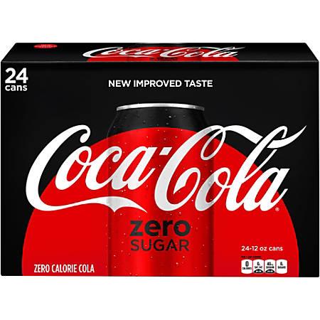 Coca-Cola Zero Sugar Soda, 12 Oz, Case Of 24 Cans