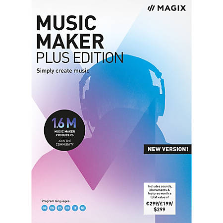MAGIX Music Maker Plus Edition, Download Version