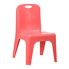 Flash Furniture Stackable School Chair Red