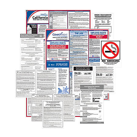 ComplyRight Federal, State And City Poster Subscription Service, English, San Francisco, California