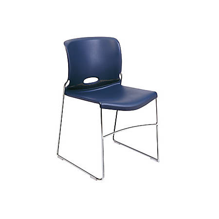"HON® Olson Stacker® Chairs, 30-5/8""H x 19-1/8""W x 21-5/8""D, Blue, Set Of 4"