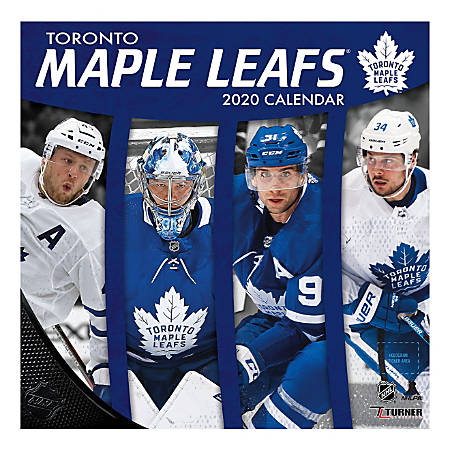 "Turner Licensing Monthly Wall Calendar, 12"" x 12"", Toronto Maple Leafs, 2020"