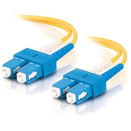 C2G 20m SC-SC 9/125 OS1 Duplex Singlemode PVC Fiber Optic Cable (USA-Made) - Yellow - Fiber Optic for Network Device - SC Male - SC Male - 9/125 - Duplex Singlemode - OS1 - USA-Made - 20m - Yellow
