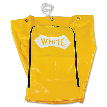 Impact Products 6850 Janitor's Cart Replacement Bag - 25 gal - Yellow - Vinyl - 1Each - Janitorial Cart
