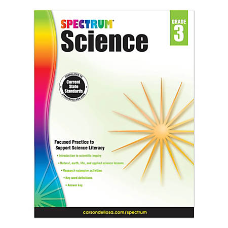 Carson-Dellosa Spectrum Science Workbook, Grade 3